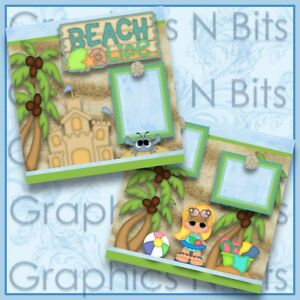 "BEACH LIFE 12""x12"" Printed Premade Scrapbook Pages"