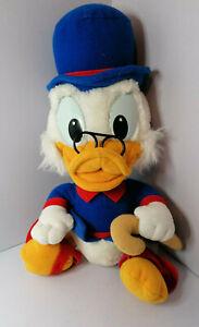 "Vintage walt disney Uncle Scrooge Mcduck Duck tales soft plush toy 11"" tall"