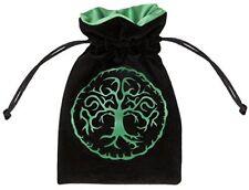 Qworkshop Forest black  green Velour Dice Bag