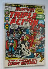 Marvel Triple Action #7 (MCG 10/72) VF+ Avengers/'Castle of Count Nefaria!'
