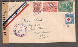 Honduras 1943 WWII examiner 2256 San Antonio TX censor cover Tegucigalpa to USA