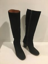 Preowned COACH WOMEN'S OMBRE HEEL BLACK SMOOTH SUEDE LEATHER KNEE HIGH BOOT 10 B