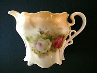 Germany, Antique Creamer, Hand painted, Roses Floral Design, Weglein Brothers