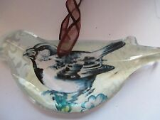 CHICKADEE ~ CRYSTAL BIRD ORNAMENT
