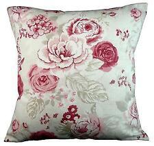 "Cushion cover in Clarke & Clarke Genevieve raspberry fabric 17"" / 43cm square"