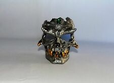 "NEW HIGHLY DETAILED METAL SKULL CANDLE HOLDER 3 1/4"" TALL"