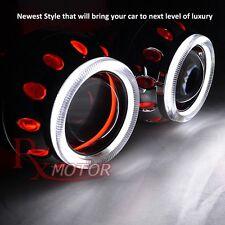 "2.5"" Bi Xenon HID Headlight Retrofit Projector Dual Red Halo Pearl Shroud Chevy"