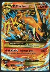 SECRET RARE Mega M Charizard EX Pokemon 107/106 XY Flashfire Holo Foil Zard - LP