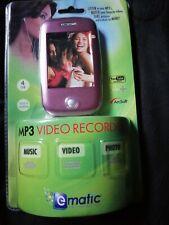 Ematic 4GB Video Blue MP3 Player FM Radio & Voice Recording Video EM604VIDP