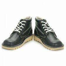 Kickers Kick Hi Core Ankle Boots, Blue, UK4 Eu 37 Brand New