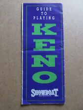 SHOWBOAT The Mardi Gras Casino ATLANTIC CITY guide to playing KENO