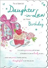 DAUGHTER IN LAW BIRTHDAY CARD - QUALITY CARD - PRESENT DESIGN & BEAUTIFUL VERSE