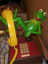 Vintage WORKING 1983 Muppets KERMIT THE FROG Touch Tone Land Line Telephone