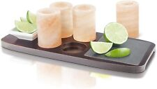 More details for final touch tequila board with salt shot glasses, 7 piece serving set