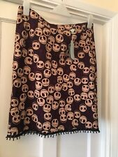 "New Almost Famous London ""Jack"" Nightmare Before Christmas Straight Skirt,14"