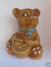 Vintage Maurice California Ceramic Brown Drummer Teddy Bear Cookie Jar