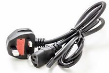 3 Prong Pin UK AC Power Cord Cable to Cloverleaf Plug for PC desktop computer