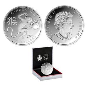 2016 Canada $15 Year of the Monkey 1oz. Fine Silver Coin (OGP/COA)