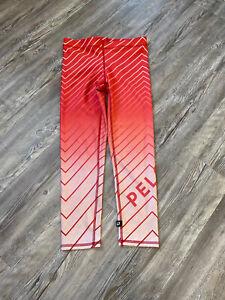 Peloton TEREZ Leggings  Athletic Ombre Orange Striped M
