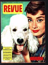 Revue Nr. 23 7.6.1958 Eva Bartok, Audrey Hepburn, Queen Elisabeth