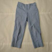Talbots Womens Hook & Eye Straight Leg Cropped Formal Dress Pants Size 4