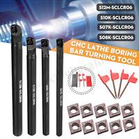 4stk Drehmeißel Bohrstange 7/8/10/12mm SCLCR06 mit 10x Wendeplatten  !