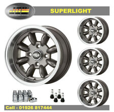 7x 13 Superlight Ruedas Ford clásico conjunto de 4 Metal de arma