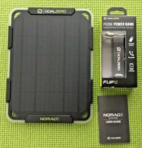 GOAL ZERO Flip 12 Power Bank Solar Kit with Nomad 5 solar panel