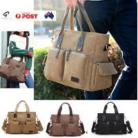 Canvas Computer Bags Shoulder Messenger Bag Vintage Military Travel Satchel NEW