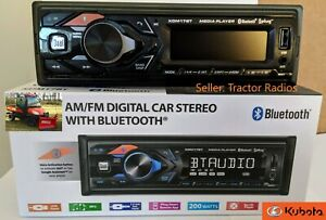 Kubota Radio AM FM USB Aux Bluetooth RTV RTX 1100c Harness Plug B2650 LX X1100C