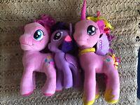 My Little Pony Hasbro Plush Pinkie Pie, Twilight Sparkle, Cadence lot of 3