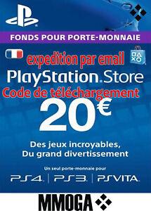 €20 EUR Carte PlayStation Network - 20 EURO PSN Code Jeu - Compte français - FR