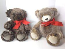 Restoration Hardware Teddy Bears Lot Jointed Brown Furry Plush Stuffed Animal