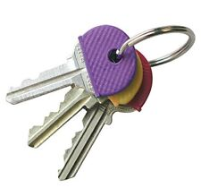 8 Pcs Key Cap Covers, Rubber Key Identifier Tags, Color Coded Key ID in 8 Colors