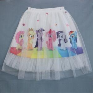US Stock My Little Pony Rainbow Color Elastic Waist Girl's Tutu Skirt O21 ZG9