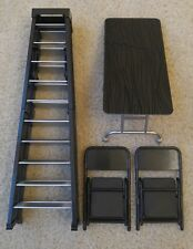 Table Ladder Chair TLC Wrestling Figure Accessory Lot WWE Mattel Elite Style