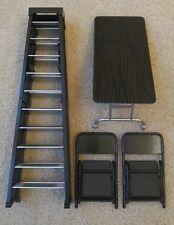 Table Ladder Chair TLC Wrestling Figure Accessory Lot WWE Mattel Elite Style
