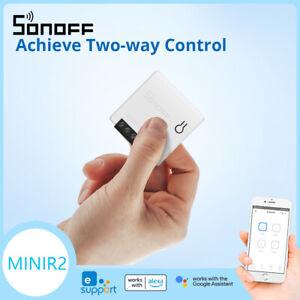 SONOFF MINIR2 WIFI Smart Switch DIY Two WAY Control APP for Alexa Google Alarm