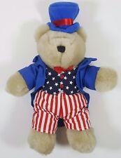 Starbucks Coffee USA Patriotic Plush Bear 2002 Bearista July 4th Stars & Stripes