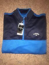 Men's Blue Callaway 1/4 Zip Pullover Size XLarge
