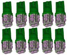 10x ampoule T10 W5W 12V 10LED SMD vert veilleuses éclairage intérieur coffre