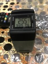 00e55dcdf5ce8 RARE PRE OWNED NEW CONDITION NIKE SLEDGE METTLE PRESS WATCH WC0038  Black GREY