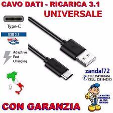 CAVO TYPE-C UNIVERSALE PER DISPOSITIVI COMPATIBILI DATI RICARICA USB 3.1 TYPE C