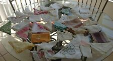 Vintage Craft Cutter Handkerchiefs Hanky Hankies Lot Of 34 Variety