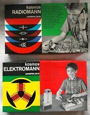 RADIOMANN KOSMOS Philips EF98 und ELEKTROMANN Lehrspielzeug Elektronik Baukasten