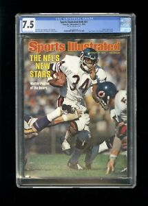 SPORTS ILLUSTRATED NEWSSTAND 1976 WALTER PAYTON CGC 7.5 FIRST ROOKIE COVER