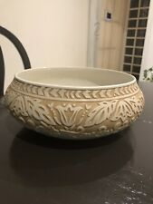 10 Inch Sculpted Round Bowl, Burnished Amber By Lenox Raised Details, Stunning