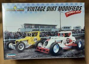 Lindberg Model King Plastic Model Double Kit 2 Vintage Dirt Modifieds  # 603031