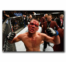 H491 Art Nate Diaz MMA UFC Welterweight Champion Poster Hot Gift -24x36 40inch