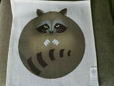 """""""Racoon"""" Hand Painted Needlepoint Canvas w/Stitch Guide"""